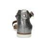 Stříbrné dámské kožené sandály s kamínky bata, stříbrná, 564-1614 - 15