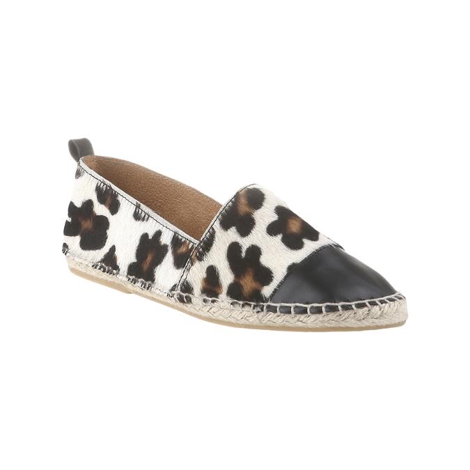 Výjimečné espadrilky s motivem leopardí kůže bata, bílá, 2017-555-1300 - 13