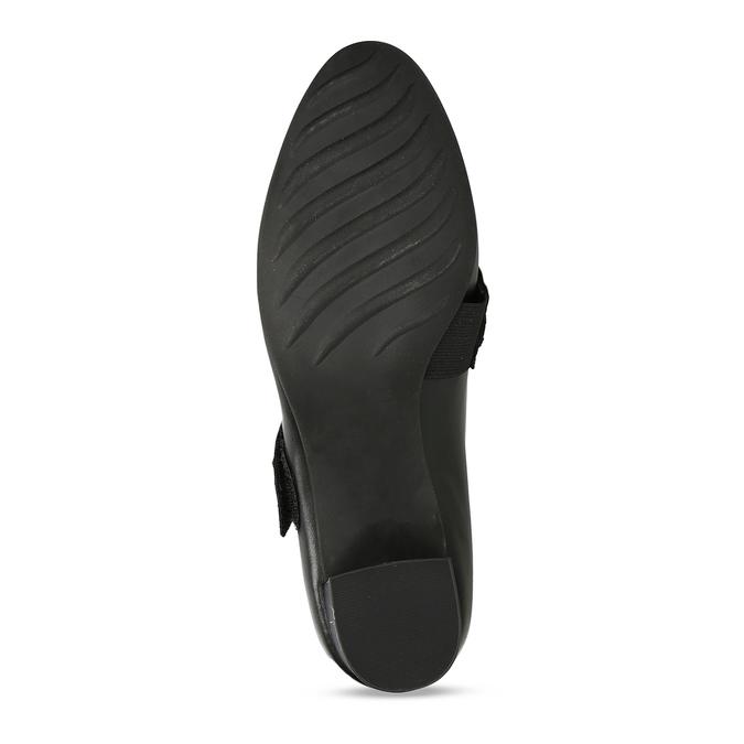Černé kožené lodičky s páskem přes nárt bata, černá, 624-6629 - 18