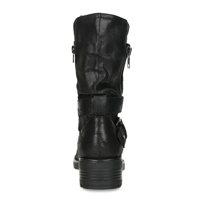 DÁMSKÉ BIKER BOOTS ČERNÉ bata, černá, 599-6605 - 15