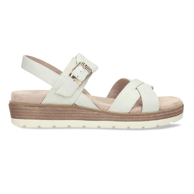 Dámské páskové sandály na platformě bata, bílá, 561-1605 - 19
