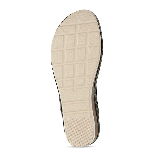 Dámské sandály na platformě comfit, černá, 661-6633 - 18