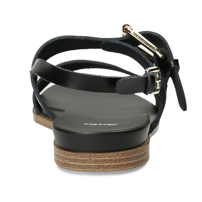 Dámské černé sandály bata, černá, 561-6621 - 15