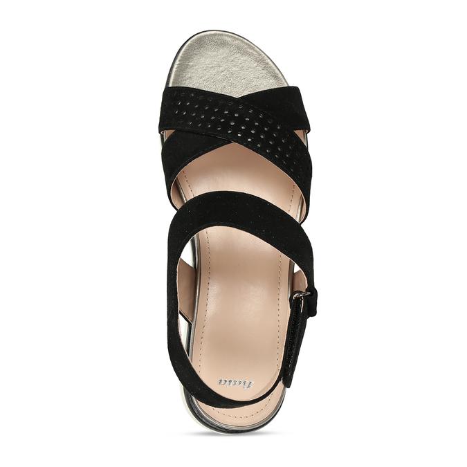 Dámské černé sandály na suchý zip bata, černá, 569-6605 - 17