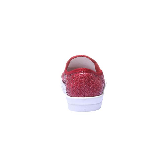 Trendy tenisky v zapleteném designu bata, červená, 2019-511-5124 - 17