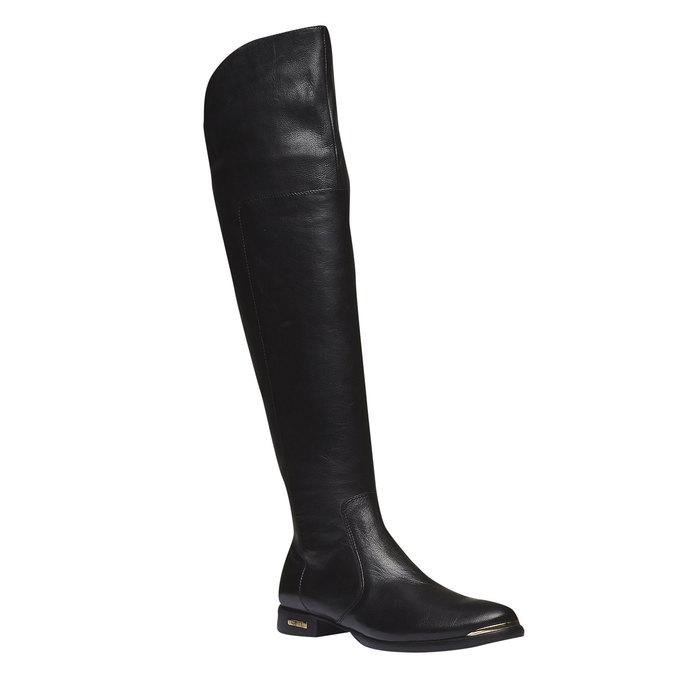 Kožené kozačky ke kolenům bata, 2019-594-6250 - 13