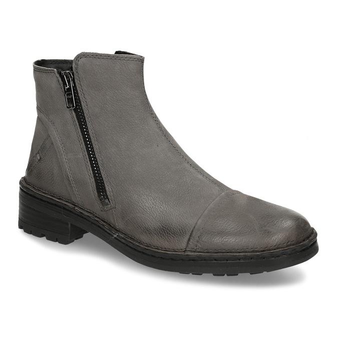 Dámské kotníkové boty z šedé kůže bata, šedá, 596-2609 - 13
