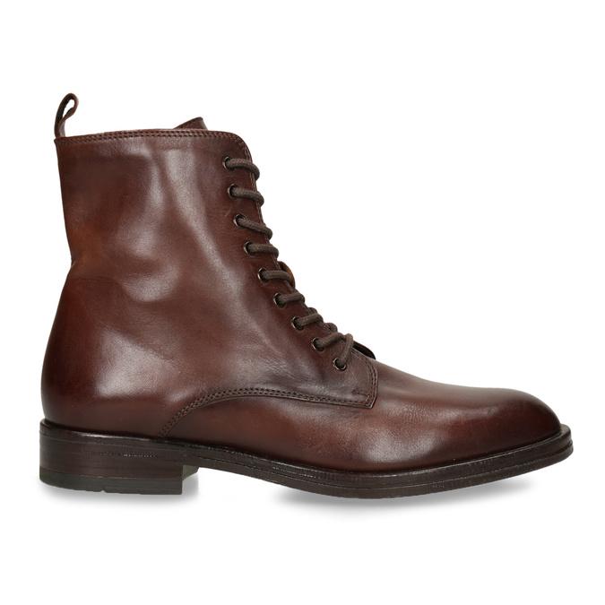 Dámská kožená kotníková obuv na zip bata, hnědá, 594-4620 - 19