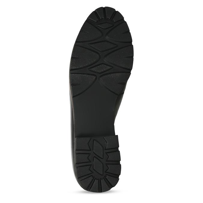 MOKASÍNY DÁMSKÉ ČERNÉ KOŽENÉ S DŘEVĚNÝM LEMEM bata, černá, 534-6603 - 18