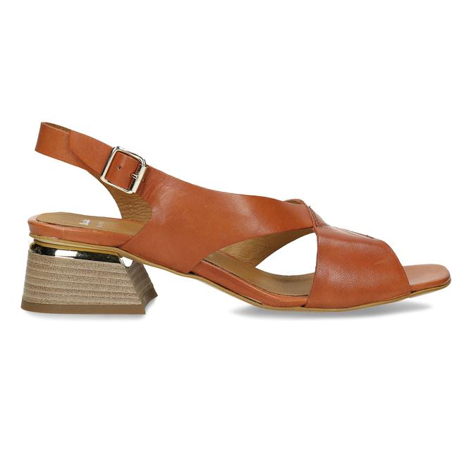 Oranžové dámské sandály na nízkém podpatku bata, oranžová, 664-3602 - 19