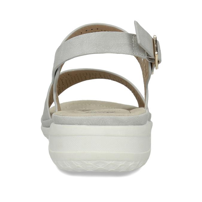 Šedé dámské sandály s perforací comfit, šedá, 561-2603 - 15