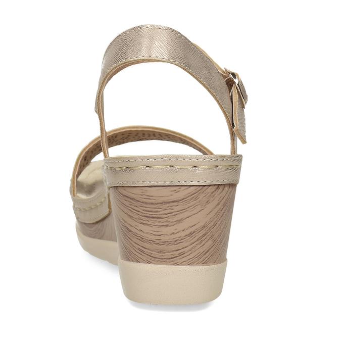 Zlaté dámské sandály na platformě comfit, zlatá, 661-8633 - 15