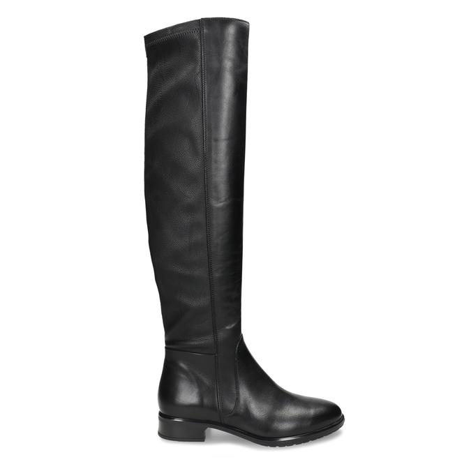 KOŽENÉ KOZAČKY NAD KOLENO DÁMSKÉ ČERNÉ bata, černá, 596-6625 - 19