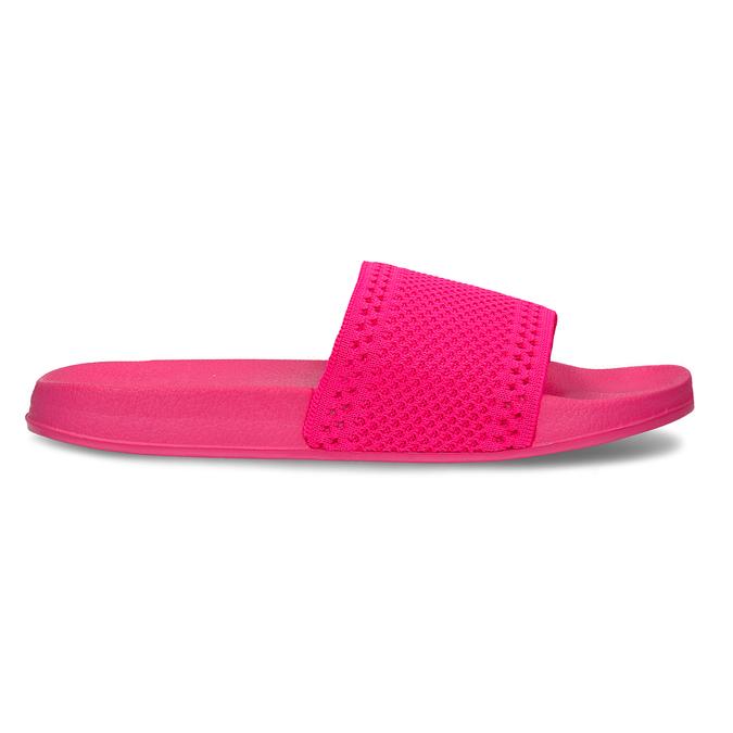 Růžové dámské pantofle s úpletem pata-pata, růžová, 579-5614 - 19