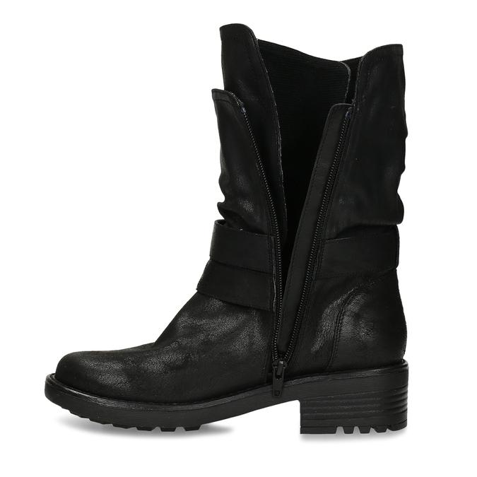 DÁMSKÉ BIKER BOOTS ČERNÉ bata, černá, 599-6605 - 17