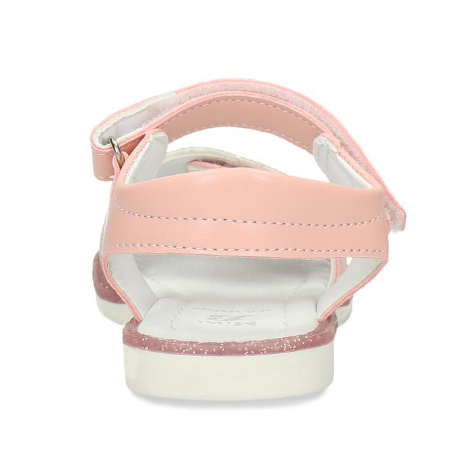 Růžové dětské sandály na suché zipy mini-b, růžová, 261-5601 - 15