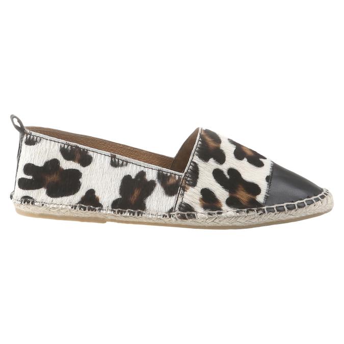 Výjimečné espadrilky s motivem leopardí kůže bata, bílá, 2017-555-1300 - 26