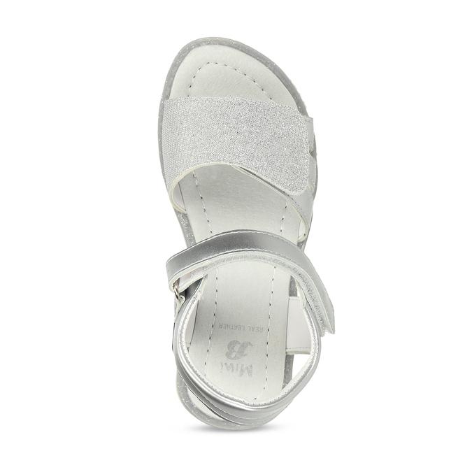Stříbrné dětské sandály na suché zipy mini-b, stříbrná, 261-1601 - 17