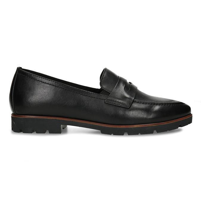 MOKASÍNY DÁMSKÉ ČERNÉ KOŽENÉ S DŘEVĚNÝM LEMEM bata, černá, 534-6603 - 19