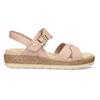 Dámské růžové páskové sandály bata, béžová, 561-5605 - 19