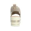 Béžové sandály na flatformě bata-light, zlatá, 669-8625 - 15