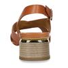 Oranžové dámské sandály na nízkém podpatku bata, oranžová, 664-3602 - 15