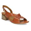 Oranžové dámské sandály na nízkém podpatku bata, oranžová, 664-3602 - 13
