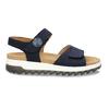 Tmavě modré kožené sandály na hrubé podešvi gabor, modrá, 563-9104 - 19