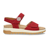 Červené dámské kožené sandály na hrubé podešvi gabor, červená, 563-5104 - 19