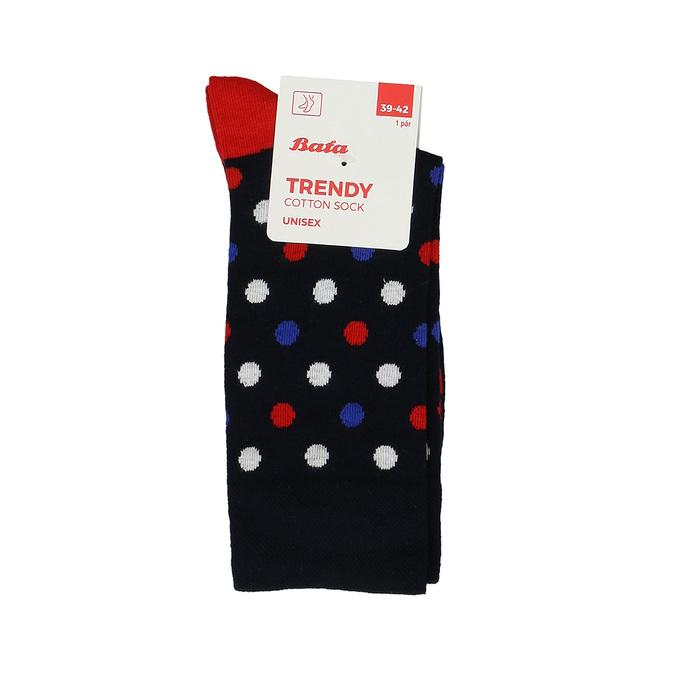 Pánské bavlněné tmavě modré ponožky s puntíky bata, modrá, 919-9662 - 13