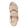 Béžové dámské sandály na suchý zip bata, béžová, 569-8605 - 17