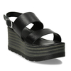 Dámské kožené černé sandály na platformě bata, černá, 764-6611 - 13
