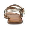 Dětské zlaté kožené sandály se srdíčky mini-b, zlatá, 466-5620 - 15