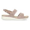 Dámské růžové sandály s perforací comfit, růžová, 561-5603 - 19