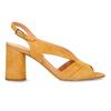 Žluté dámské kožené sandály na stabilním podpatku bata, žlutá, 763-8602 - 19