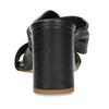 Černé kožené dámské pantfle na podpatku bata, černá, 764-6610 - 15