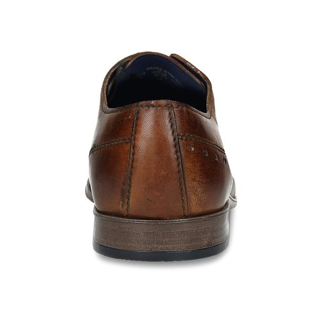 Hnědé pánské kožené Oxford polobotky bugatti, hnědá, 826-4934 - 15