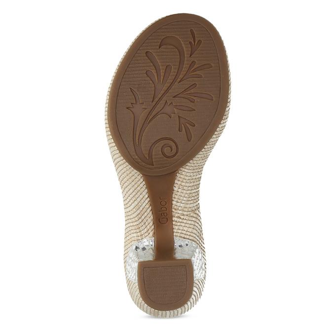 Kožené dámské sandály na podpatku gabor, bílá, 666-1101 - 18