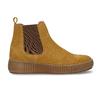 Žlutá kožená dámská kotníková Chelsea obuv bata, žlutá, 593-8615 - 19