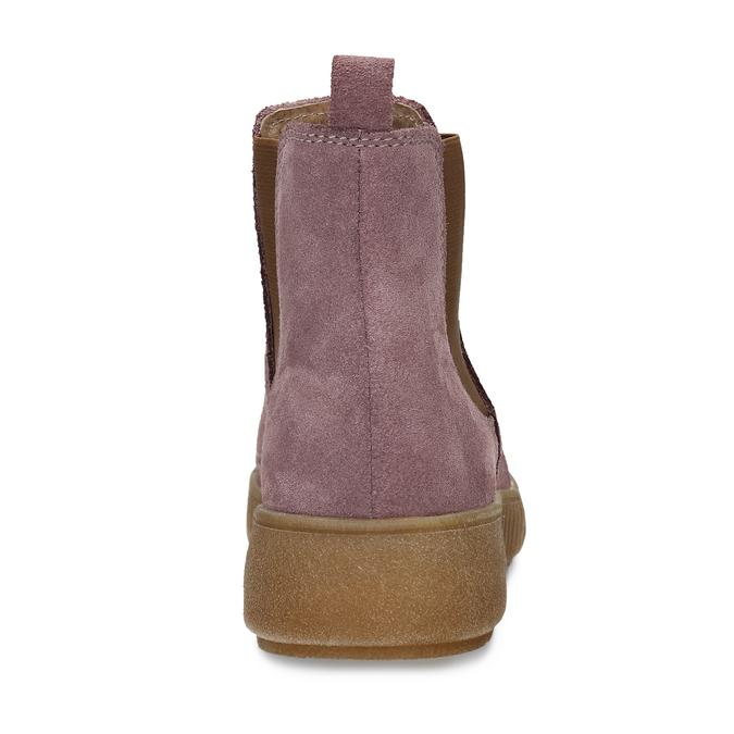 Růžová dámská kožená kotníková Chelsea obuv bata, růžová, 593-5615 - 15