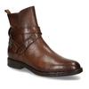 Hnědá dámská kožená kotníková obuv bata, hnědá, 594-4622 - 13