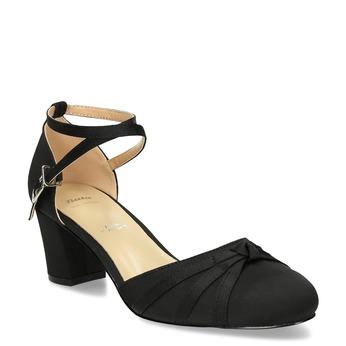 Černé dámské lodičky na nízkém podpatku bata, černá, 629-6608 - 13