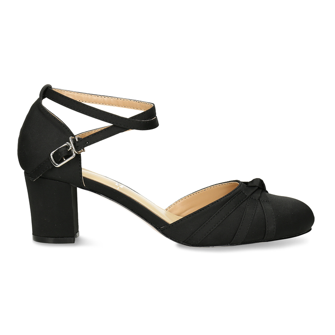 Černé dámské lodičky na nízkém podpatku bata, černá, 629-6608 - 19