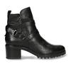Černá dámská kožená kotníková obuv s pásky bata, černá, 694-6629 - 19