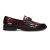 Extravagantní dámské mokasíny s lesklou hadí texturou bata, červená, 511-5604 - 19