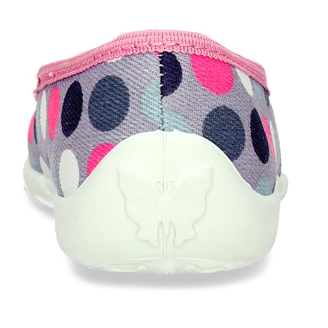 Dívčí přezůvky s puntíky mini-b, vícebarevné, 279-0606 - 15