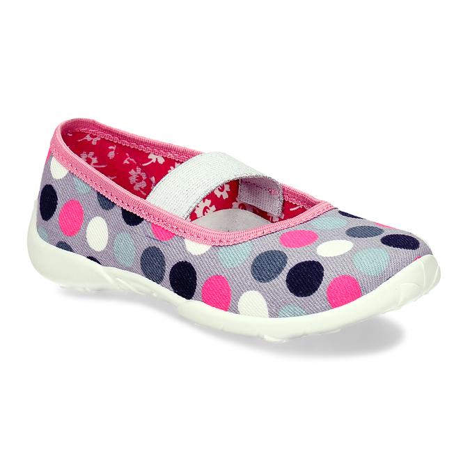 Dívčí přezůvky s puntíky mini-b, vícebarevné, 279-0606 - 13