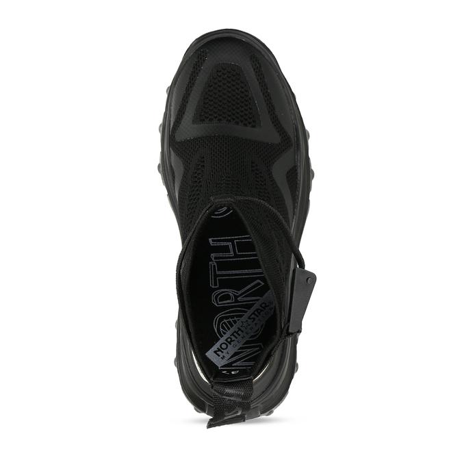Černé dámské Chunky tenisky s perforací north-star, černá, 549-6614 - 17