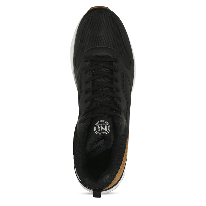 Černé pánské kotníkové tenisky north-star, černá, 841-6601 - 17