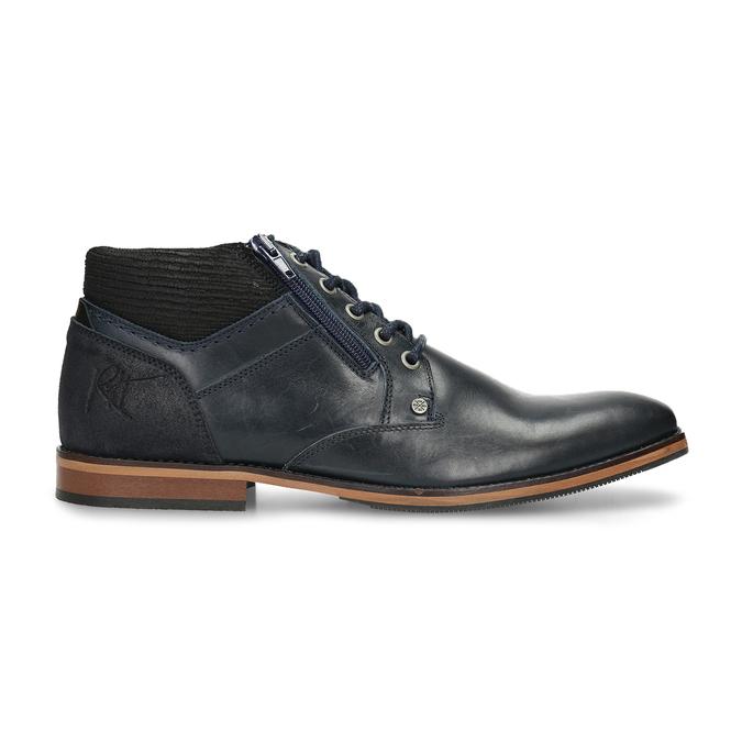 Kožená pánská kotníková obuv modrá bata, modrá, 826-9716 - 19